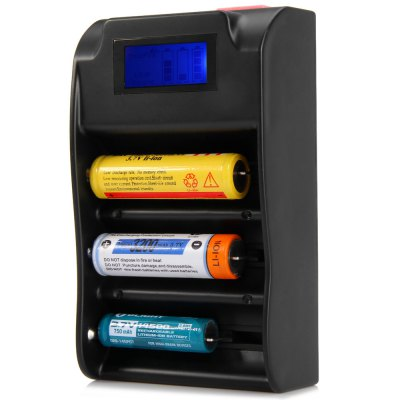 TrustFire TR - 008 Multi - use USB Port Lithium Battery Charger LCD Power Bank with 3 Slots