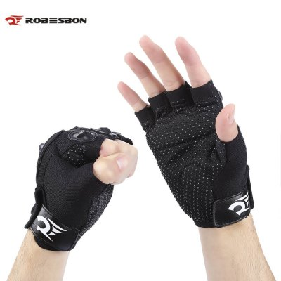 Robesbon Paired Breathable Half Finger Cycling Gloves