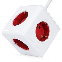 Allocacoc Extended 5 Outlets PowerCube Socket DE Plug Adapter with 1.5m Cable