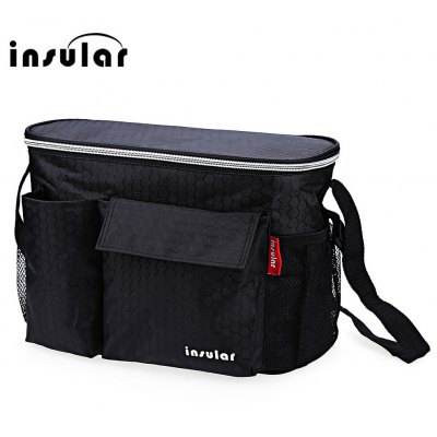 Insular Solid Color Heat Preservation Waterproof Babies Diaper Bag for Stroller