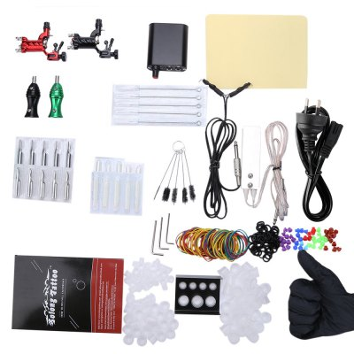 Solong Beginner Tattoo Kit Rotary Machine Guns Power Supply