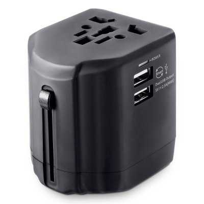 Universal Multifunctional Travel Adapter Dual USB Charger