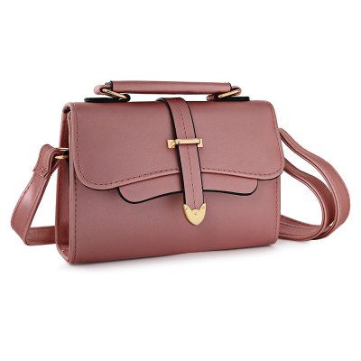 Stylish Casual Solid Color PU Shoulder Bag for Women
