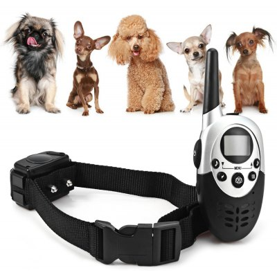 M613 1000m 4 Mode LCD Rechargeable Water Resistant Training Collar  -  90 - 264V
