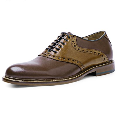 DESAI Patchwork Design Male Lace Up Leather ShoesFormal Shoes<br>DESAI Patchwork Design Male Lace Up Leather Shoes<br><br>Available Size: 40, 40.5, 41, 41.5, 42, 44<br>Closure Type: Lace-Up<br>Embellishment: None<br>Gender: For Men<br>Lining Material: Pigskin<br>Occasion: Casual<br>Outsole Material: Rubber<br>Package Contents: 1 x Pair of Men Leather Shoes<br>Pattern Type: Patchwork<br>Season: Spring/Fall, Summer<br>Shoe Width: Medium(B/M)<br>Toe Shape: Pointed Toe<br>Toe Style: Closed Toe<br>Upper Material: Genuine Leather<br>Weight: 1.0800kg