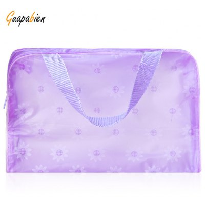Guapabien Lovely Printed Practical Convenient Waterproof Translucent Bath Wash Bag