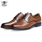 DESAI Business Pointed Toe Male Leather Shoes