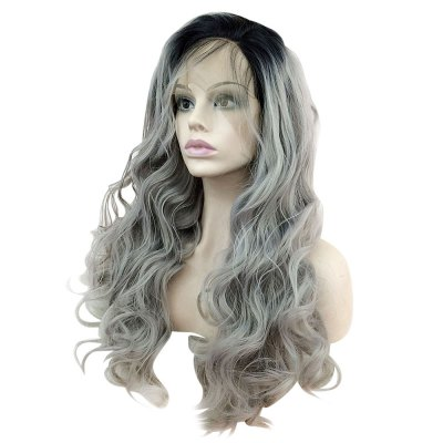 Long Side Bang Dark Root Wavy Lace Front Synthetic Fiber WigLace Front Wigs<br>Long Side Bang Dark Root Wavy Lace Front Synthetic Fiber Wig<br><br>Advantage: Very Soft and Fashionable<br>Can Be Permed: Yes<br>Cap Construction: Lace Front<br>Cap Size: Average<br>Gender: Female<br>Lace Wigs Type: Lace Front Wigs<br>Length: Medium<br>Length Size(Inch): 26<br>Material: Synthetic High Temperature Hair<br>Net Type: Synthetic Glueless Lace Front Net<br>Package Contents: 1 x Wig<br>Package size (L x W x H): 30.00 x 20.00 x 5.00 cm / 11.81 x 7.87 x 1.97 inches<br>Package weight: 0.3800 kg<br>Product size (L x W x H): 65.00 x 2.00 x 3.00 cm / 25.59 x 0.79 x 1.18 inches<br>Product weight: 0.3500 kg<br>Style: Wavy<br>Type: Lace Front