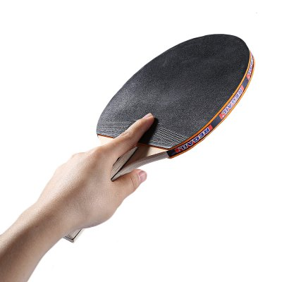 REGAIL A508 Table Tennis Ping Pong Racket SetTennis &amp; Racquet<br>REGAIL A508 Table Tennis Ping Pong Racket Set<br><br>Baseboard Layer Number: 7<br>Bottom: Poplar Wood<br>Color: Black,Orange<br>Grip Means: Horizontal Grip<br>Package Contents: 1 x Pair of Bat, 3 x Ping Pong Ball<br>Package Size(L x W x H): 30.00 x 19.00 x 3.00 cm / 11.81 x 7.48 x 1.18 inches<br>Package weight: 0.3950 kg<br>Product weight: 0.3350 kg<br>Rubber: Pimples In<br>Weight: Heavy Tip Light Handle (Offensive)