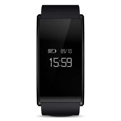 TenFifteen A58 Bluetooth 4.0 Smart WristbandSmart Watches<br>TenFifteen A58 Bluetooth 4.0 Smart Wristband<br><br>Band material: TPU + TPE<br>Battery Capacity: 100mAh<br>Battery Type: Lithium Polymer Battery<br>Bluetooth Version: Bluetooth 4.0<br>Case material: ABS<br>Compatability: Android 4.4 / iOS 8.0 and above system<br>Compatible OS: Android, IOS<br>Functions: Distance recording, Measurement of heart rate, Notification of app, Pedometer, SMS Reminding, Sleep management, Sedentary reminder, Sitting posture reminder, Date, Camera remote control, Calories burned measuring, Call reminder, Alarm Clock<br>Language: English<br>Package Contents: 1 x Smart Bracelet, 1 x Charging Clip, 1 x English and Chinese User Manual<br>Package size (L x W x H): 8.80 x 14.60 x 3.60 cm / 3.46 x 5.75 x 1.42 inches<br>Package weight: 0.1490 kg<br>People: Female table,Male table<br>Power: Built-in Battery<br>Product size (L x W x H): 23.50 x 2.50 x 1.00 cm / 9.25 x 0.98 x 0.39 inches<br>Product weight: 0.0280 kg<br>Screen: Yes<br>Screen type: OLED<br>Shape of the dial: Rectangle<br>Standby time: About 20 days<br>The band width: 2 cm / 0.79 inches<br>The dial diameter: 2.5 cm / 0.98 inches<br>The dial thickness: 1 cm / 0.39 inches<br>Waterproof: Yes<br>Waterproof Rating : IP67<br>Wearable length: 14.5 - 22.5 cm / 5.71 - 8.86 inches
