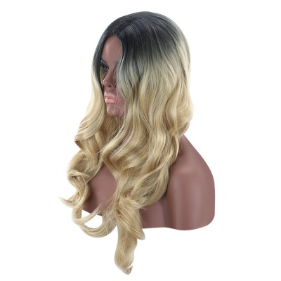 QIYI Long Dark Root Wavy High Temperature Synthetic WigSynthetic Wigs<br>QIYI Long Dark Root Wavy High Temperature Synthetic Wig<br><br>Advantage: Very Soft and Fashionable<br>Bang Type: Middle<br>Can Be Permed: No<br>Gender: Female<br>Length: Medium<br>Length Size(CM): 65 - 70<br>Length Size(Inch): 25.59 - 27.56<br>Material: Synthetic High Temperature Hair<br>Net Type: Buckle Net<br>Package Contents: 1 x Wig<br>Package size (L x W x H): 27.00 x 16.00 x 5.00 cm / 10.63 x 6.3 x 1.97 inches<br>Package weight: 0.3170 kg<br>Product size (L x W x H): 65.00 x 2.00 x 3.00 cm / 25.59 x 0.79 x 1.18 inches<br>Product weight: 0.2400 kg<br>Style: Wavy<br>Type: Full Wigs