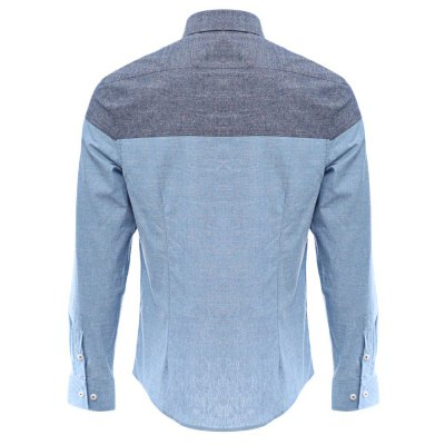Slim Patchwork Button Design Men Long Sleeve ShirtMens Shirts<br>Slim Patchwork Button Design Men Long Sleeve Shirt<br><br>Collar: Turn-down Collar<br>Fabric Type: Broadcloth<br>Material: Cotton Blends<br>Package Contents: 1 x Shirts<br>Shirts Type: Casual Shirts<br>Sleeve Length: Full<br>Weight: 0.3020kg
