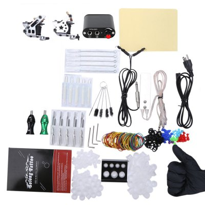 Solong Complete Tattoo Kit 10 Warp Coils Guns Machine