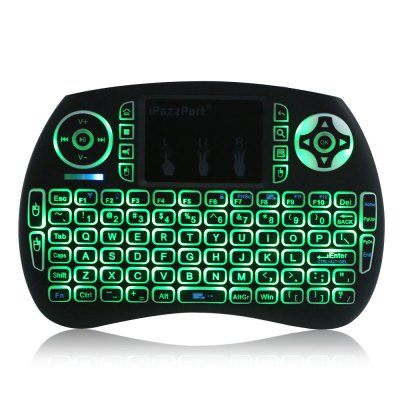 iPazzPort Mini KeyboardAir Mouse<br>iPazzPort Mini Keyboard<br><br>Brand: iPazzPort<br>Full Size keyboard: Yes<br>Interface Type: USB<br>Package Contents: 1 x iPazzPort Wireless Keyboard<br>Package Size(L x W x H): 18.50 x 11.00 x 2.00 cm / 7.28 x 4.33 x 0.79 inches<br>Package weight: 0.1900 kg<br>Product Size(L x W x H): 14.60 x 10.00 x 1.40 cm / 5.75 x 3.94 x 0.55 inches<br>Product weight: 0.1130 kg<br>Type: 2.4GHz Wireless<br>Wi-Fi Range: 10m