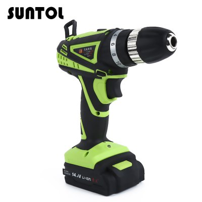 SUNTOL 14.4V Multi-function Lithium-ion Battery Electric Drill
