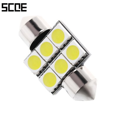 SCOE DC 12V 6 SMD LED Car Reading Lamp
