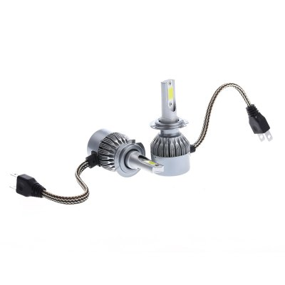 2pcs C6 H7 Car LED Headlight Bulbs