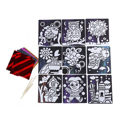 Sticky paper painting toy for children