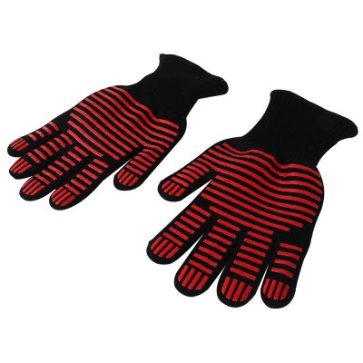 Pair of Anti-skidding Oven Mitts Heat-resistant Safe GlovesBBQ<br>Pair of Anti-skidding Oven Mitts Heat-resistant Safe Gloves<br><br>Package Contents: 1 x Pair of Gloves<br>Package Size(L x W x H): 30.50 x 17.00 x 5.00 cm / 12.01 x 6.69 x 1.97 inches<br>Package weight: 0.2760 kg<br>Product weight: 0.2500 kg