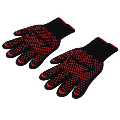 Pair of Ultra Stretchy Heat-resistant Safe Gloves Oven MittsBBQ<br>Pair of Ultra Stretchy Heat-resistant Safe Gloves Oven Mitts<br><br>Package Contents: 1 x Pair of Gloves<br>Package Size(L x W x H): 32.00 x 17.00 x 5.00 cm / 12.6 x 6.69 x 1.97 inches<br>Package weight: 0.2710 kg<br>Product weight: 0.2480 kg