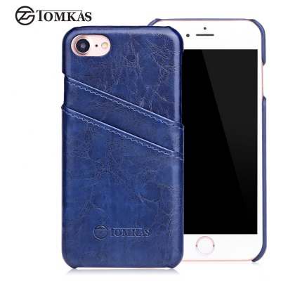 TOMKAS Oil Wax Back Case Card Slot Design for iPhone 7
