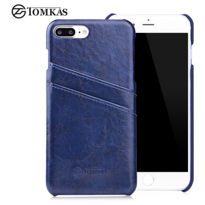 TOMKAS Oil Wax Case Card Slot Design for iPhone 7 Plus
