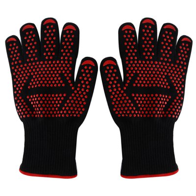 Pair of Ultra Stretchy Heat-resistant Safe Gloves Oven Mitts
