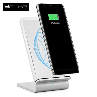 YoLike A8 10W Dual Coil Fast Qi Wireless Charging Stand
