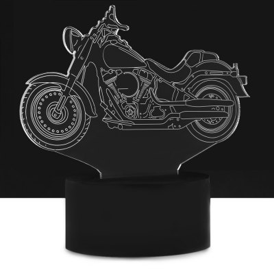 Creative LED Colorful Motorcycle Design USB Night Light