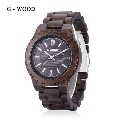 G - WOOD EG - 0702 Male Quartz Wood Watch