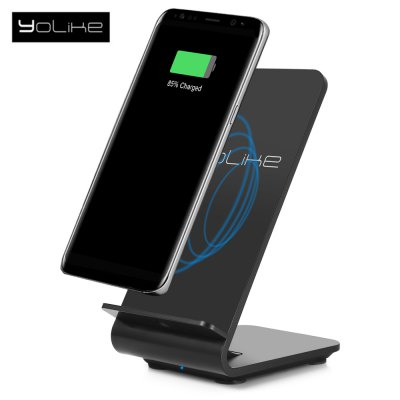 YoLike A8 10W Dual Coil Fast Qi Wireless Charging Pad Stand