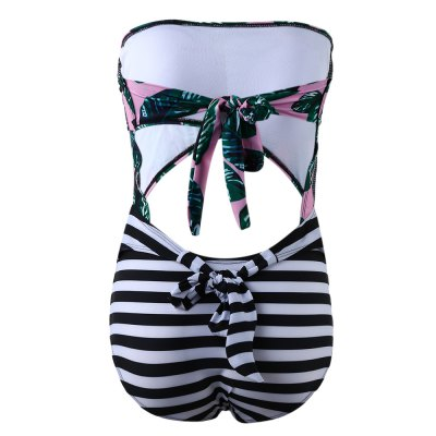 Strapless Leaves Printing Bikini SetWomens Swimwear<br>Strapless Leaves Printing Bikini Set<br><br>Gender: Women<br>Package Contents: 1 x Bikini Set<br>Package Size(L x W x H): 1.00 x 1.00 x 1.00 cm / 0.39 x 0.39 x 0.39 inches<br>Package weight: 0.1860 kg<br>Product weight: 0.1710 kg<br>With Pad: With pad