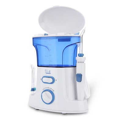 GUSTALA G168 Teeth CleanerTooth Care<br>GUSTALA G168 Teeth Cleaner<br><br>For: All<br>Item Type: Oral Irrigator<br>Materials: Plastic<br>Package Content: 1 x Main Machine, 1 x Water Reservoir, 1 x Reservoir Cover with Tips Storage, 7 x Tip ( 3 x Classic Jet Tip, 1 x Plaque Seeker Tip, 1 x Orthodontic Tip, 1 x Pik Pocket Tip, 1 x Tongue Cleaner ), 1 x H<br>Package size (L x W x H): 23.00 x 19.50 x 12.50 cm / 9.06 x 7.68 x 4.92 inches<br>Package weight: 0.9890 kg<br>Powered Source: Electric<br>Product size (L x W x H): 20.50 x 17.50 x 9.00 cm / 8.07 x 6.89 x 3.54 inches<br>Product weight: 0.9500 kg