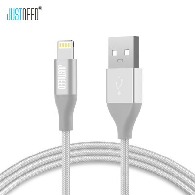 JUSTNEED MFi Certification 8 Pin 2.4A Charging Data Cable 1M