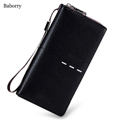 Baborry PU Leather Long Card Holder Clutch Wallet for Men