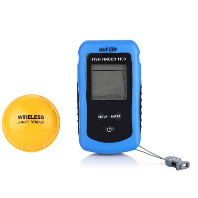 Outlife LCD Fish Finder Ultrasonic Sonar Sensor Echo Sounder