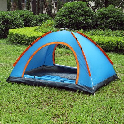 SHENGYUAN Camping Instant Setup 2 Person TentTent<br>SHENGYUAN Camping Instant Setup 2 Person Tent<br><br>Bottom Waterproof Index: 1000-1500 mm<br>Building Type: Quick Automatic Opening<br>Layers: Single<br>Outside Tent Waterproof Index: 1000-1500 mm<br>Package Contents: 1 x Camping Tent, 1 x Rain Cover, 8 x Tent Peg, 1 x Windproof Strap, 1 x Bag<br>Package Size(L x W x H): 64.00 x 62.00 x 12.00 cm / 25.2 x 24.41 x 4.72 inches<br>Package weight: 1.2850 kg<br>Product weight: 0.9900 kg<br>Season: Three-season Tent<br>Style: Outdoor<br>Type: 1 - 2 Person Tent