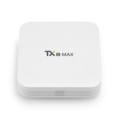 TX8 MAX TV BoxTV Box<br>TX8 MAX TV Box<br><br>5G WiFi: Yes<br>Audio format: AAC, APE, FLAC, MP3, WMA, WAV, OGG<br>Bluetooth: Bluetooth4.0<br>Core: 2.0GHz<br>CPU: Cortex A53, Amlogic S912<br>Decoder Format: Xvid/DivX3/4/5/6, RealVideo8/9/10, HD MPEG1/2/4, HD AVC/VC-1, H.265, RM/RMVB<br>GPU: ARM Mali-T820MP3<br>HDMI Version: 2.0<br>Interface: DC Power Port, HDMI, LAN, SPDIF, TF card, USB2.0<br>Language: English,French,Germany,Multi-language,Russian<br>Max. Extended Capacity: 32G<br>Model: TX8 MAX<br>Other Functions: Airplay, DLNA, Miracast<br>Package Contents: 1 x TX8 MAX TV Box, 1 x Remote Controller, 1 x Charger Adapter, 1 x HDMI Cable, 1 x English User Manual<br>Package size (L x W x H): 16.00 x 16.00 x 8.50 cm / 6.3 x 6.3 x 3.35 inches<br>Package weight: 0.5400 kg<br>Photo Format: BMP, TIFF, PNG, JPEG, GIF<br>Power Adapter Input: 100-240V / 50-60Hz<br>Power Supply: Charge Adapter<br>Power Type: External Power Adapter Mode<br>Processor: Amlogic S912<br>Product size (L x W x H): 10.30 x 10.30 x 2.50 cm / 4.06 x 4.06 x 0.98 inches<br>Product weight: 0.1670 kg<br>RAM: 3G RAM<br>RAM Type: DDR4<br>Remote Controller Battery: 2 x 1.5V AAA battery ( not included )<br>ROM: 16G,32G<br>System: Android 7.1<br>System Bit: 64Bit<br>Type: TV Box<br>Video format: 3GP, 4K, AVI, WMV, VC-1, RMVB, RM, PMP, MPEG4, MKV, M4V, MPEG2, H.265, H.264, FLV, DIVX, VOB<br>WIFI: 802.11 b/g/n/ac