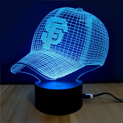 3D Colorful Cap Model Table LampNight Lights<br>3D Colorful Cap Model Table Lamp<br><br>Is Batteries Included: No<br>Is Batteries Required: No<br>Is Bulbs Included: No<br>Light Source: Fluorescent<br>Package Contents: 1 x Lamp, 1 x Acrylic Plate, 1 x USB Line, 1 x English Manual<br>Package Size(L x W x H): 24.00 x 17.10 x 4.90 cm / 9.45 x 6.73 x 1.93 inches<br>Package weight: 0.2740 kg<br>Product weight: 0.1220 kg<br>Type: Lamp<br>Wattage: 0-5W
