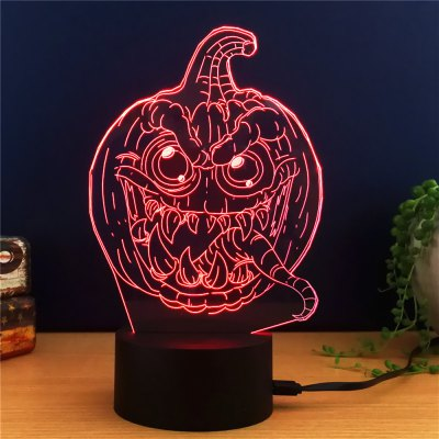 3D Colorful Pumpkin Model Table LampNight Lights<br>3D Colorful Pumpkin Model Table Lamp<br><br>Is Batteries Included: No<br>Is Batteries Required: No<br>Is Bulbs Included: No<br>Light Source: Fluorescent<br>Package Contents: 1 x Lamp, 1 x Acrylic Plate, 1 x USB Line, 1 x English Manual<br>Package Size(L x W x H): 24.00 x 17.10 x 4.90 cm / 9.45 x 6.73 x 1.93 inches<br>Package weight: 0.2740 kg<br>Product weight: 0.1190 kg<br>Type: Lamp<br>Wattage: 0-5W