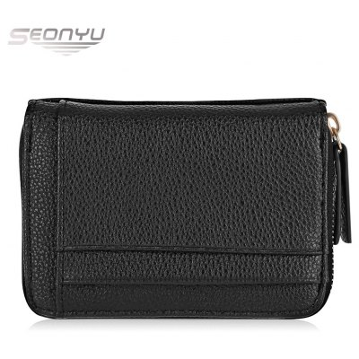 SEONYU PU Leather Multiple Layers Card Holder Wallet for Men
