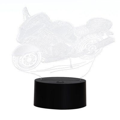3D Colorful Motorcycle Shape Table Lamp