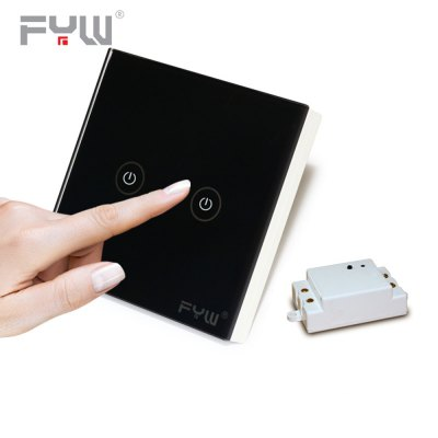 FYW Home Touch Remote Switch 2 Gang Intelligent Control Wall On - off