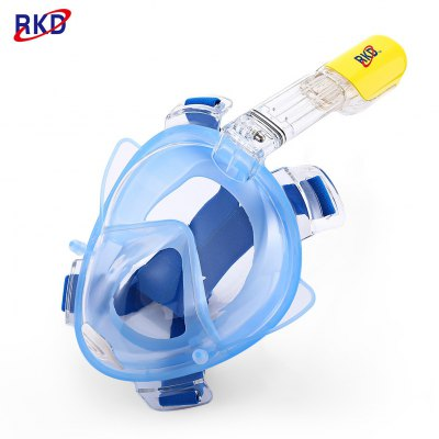 RKD Diving Detachable Dry Snorkeling Full Face Mask Set