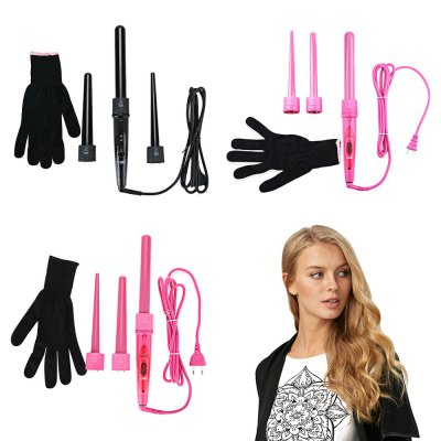Professional Curling Wand Interchangeable 3 Parts Clip Iron Hair Curler SetHair Care<br>Professional Curling Wand Interchangeable 3 Parts Clip Iron Hair Curler Set<br><br>Applicable Hair: Dry<br>Dimensions of Heating Plate: Others<br>Material of thermal plate/bar: Tourmaline ceramic<br>Package Content: 3 x 3P Curling Wand, 1 x Instructions, 1 x Glove<br>Package Size(L x W x H): 39.00 x 10.00 x 5.00 cm / 15.35 x 3.94 x 1.97 inches<br>Package weight: 0.6000 kg<br>Power: 60-100W<br>Power Cord Tail Assembly Mode: 360° rotatable<br>Powered Source: Electric<br>Product Size(L x W x H): 36.00 x 20.00 x 3.70 cm / 14.17 x 7.87 x 1.46 inches<br>Product weight: 0.4840 kg<br>Temperature Controller: Knob<br>Thermostat Adjustment Segments: Others<br>Type: Monofunctional curler<br>Voltage (V): 100 - 240V