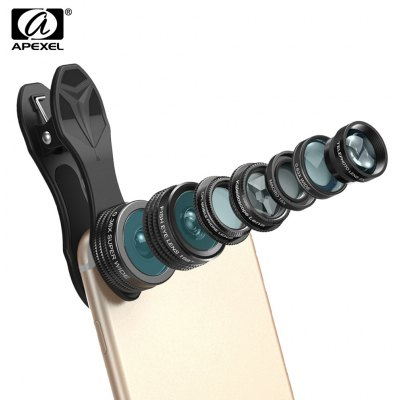 Apexel APL - DG7 7 in 1 Clip External Phone Camera Lens Kit