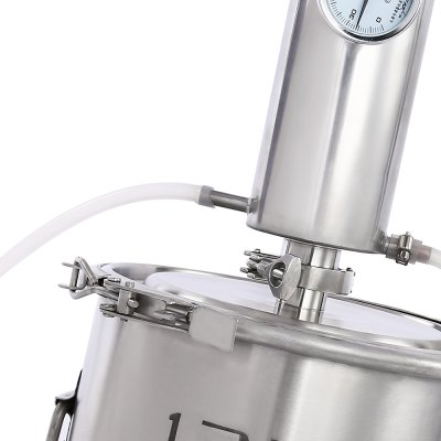 Dibosh Large Capacity Fermentor Stainless Steel Alcohol DistillerOther Home Improvement<br>Dibosh Large Capacity Fermentor Stainless Steel Alcohol Distiller<br><br>Bar Tools Type: Alcohol Distiller<br>Material: Copper, Stainless Steel<br>Package Contents: 1 x Alcohol Distiller, 1 x Water Pump, 1 x 1.5m Silicone Pipe, 1 x Stand, 1 x Filter Bag, 1 x Alcohol Thermometer Kit, 1 x Teflon Tape, 1 x 250ml Measuring Cylinder, 1 x Temperature Post, 1 x Check Va<br>Package Size(L x W x H): 36.00 x 36.00 x 44.00 cm / 14.17 x 14.17 x 17.32 inches<br>Package weight: 6.2200 kg<br>Product Size(L x W x H): 25.00 x 25.00 x 58.00 cm / 9.84 x 9.84 x 22.83 inches<br>Product weight: 4.2800 kg
