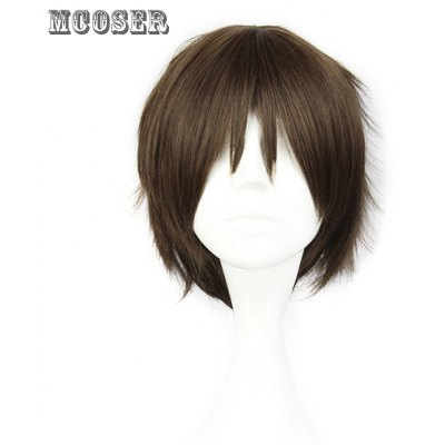 Mcoser Fluffy Short Straight Layered Anime Wig