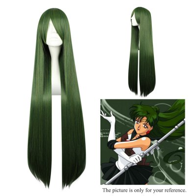 Mcoser Long Straight Side Bang Synthetic Hair Anime Wig mcoser neat bang straight short bunches anime wig