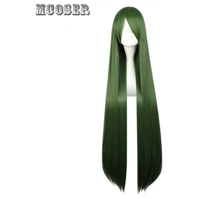Mcoser Long Straight Side Bang Synthetic Hair Anime Wig